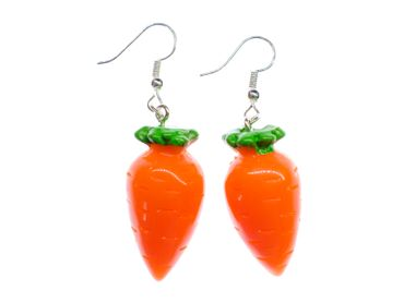 Carrot Carrots Earrings Miniblings Bunny Rabbit Vegetables 3D Orange Vegetables – Bild 1