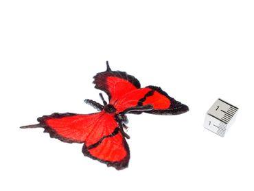 Schmetterling Brosche Miniblings Rot Frühling Falter Fliegen Insekt Tier Gummi – Bild 2