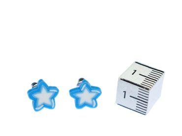 Blau Stern Sterne Ohrstecker Miniblings Stecker Ohrringe Mini Sternchen – Bild 2