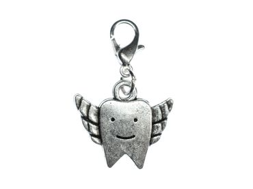 Tooth With Wings Teeth Dentist Charm Zipper Pendant Bracelet Wristlet Miniblings – Bild 1