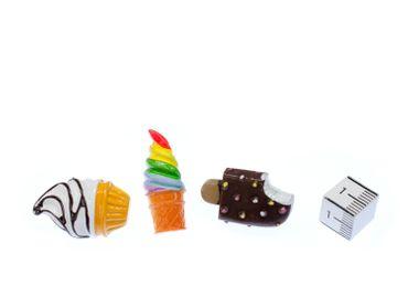 3x Set Eis Pin Miniblings Brosche Urlaub Stieleis Softeis Sommer Essen Süßigkeit – Bild 4