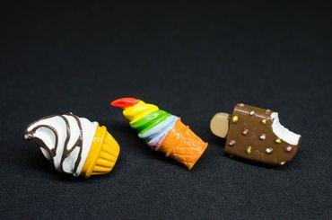 3x Set Eis Pin Miniblings Brosche Urlaub Stieleis Softeis Sommer Essen Süßigkeit – Bild 3