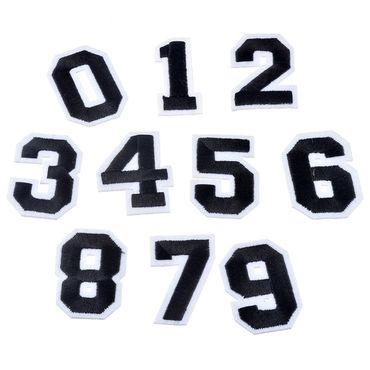 20x Numbers Iron Pictures Patch Press College Number Miniblings White Black – Bild 6