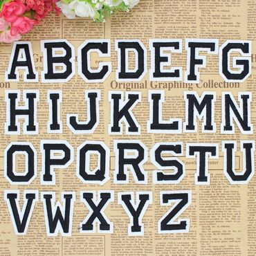 26x Letters Initials Alphabet ABC Patch Hotfix Iron On Application Miniblings – Bild 3