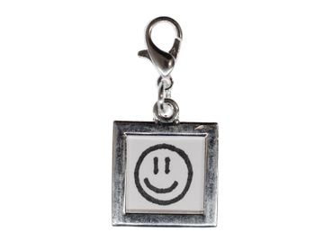 Dein Foto Charm Anhänger Bettelarmband Bild Miniblings silber DIY 18mm quadrat – Bild 1
