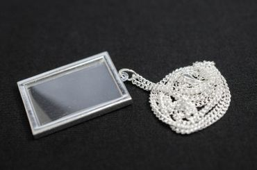 Photo Angular Necklace Miniblings Do It Yourself Personalized Silver Plated – Bild 2
