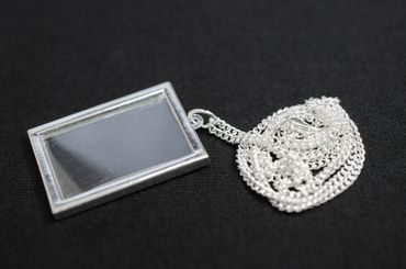 Photo Angular Necklace Miniblings Do It Yourself Personalized Silver Plated – Bild 1