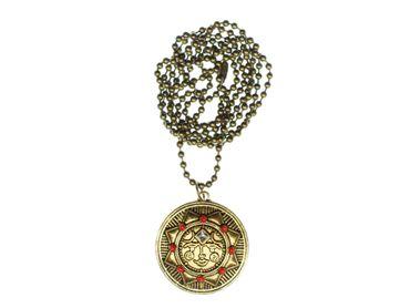 Sonne Bronze Kette Halskette Miniblings Sonnensystem Planet Sonnenschein 80cm – Bild 1