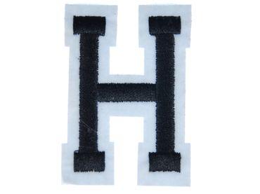 Buchstaben Initialen Alphabet ABC Bügelbild Patch Miniblings Buchstabe 4,5 neu H – Bild 1