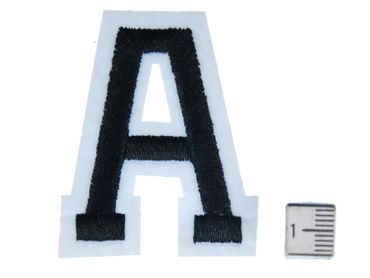 Letters Initials Alphabet ABC Hotifix Patch Hotfix Iron On Motif Application Sewing Miniblings 4.5cm Letter V new – Bild 2