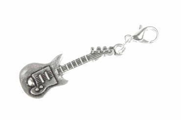 Electric Guitar E-Guitar Charm Miniblings Band Music Superstar Pendant Silver – Bild 2
