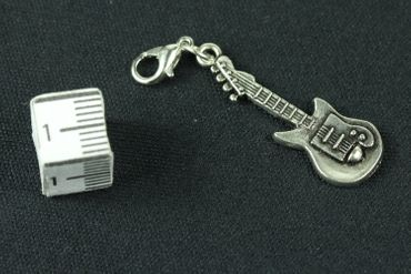 Electric Guitar E-Guitar Charm Miniblings Band Music Superstar Pendant Silver – Bild 3