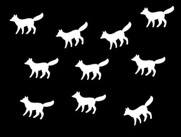 10X Patch Hotfix Iron On Motif Miniblings 33mm Velvety Flock Animal Autumn Fox Dog – Bild 12