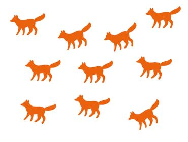 10X Patch Hotfix Iron On Motif Miniblings 33mm Velvety Flock Animal Autumn Fox Dog – Bild 8