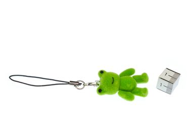 Frog Mobile Phone Charm Pendant Decoration Miniblings Flock Froggy Green – Bild 2