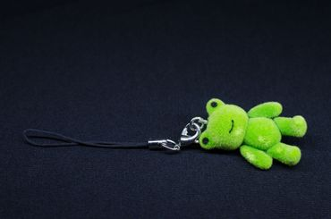 Frog Mobile Phone Charm Pendant Decoration Miniblings Flock Froggy Green – Bild 3