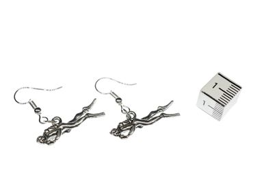 Diver Earrings Miniblings Wetsuit Diving Equipment Silver Plated – Bild 3