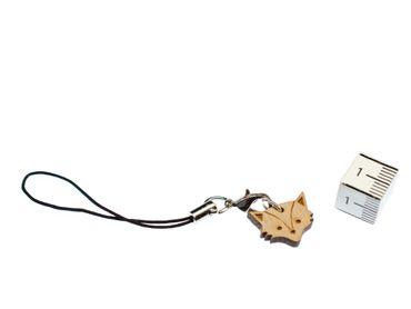 Fox Head Mobile Phone Charm Pendant Miniblings Foxes Forest Animals Animal Wood – Bild 3