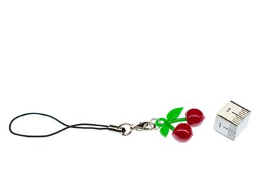 Cherries Mobile Phone Charm Cellphone Miniblings Pendant Fruit Fruits Cherry – Bild 3