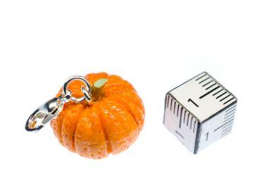 Halloween Pumpkin Vegetables Charm Zipper Pull Pendant Bracelet Wristlet Miniblings 3D Polymer Clay – Bild 2