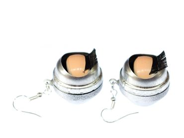 Eye Earrings Miniblings Halloween Eyes Puppet Moving Creepy Doll Eyes – Bild 3