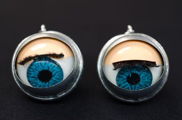Eye Earrings Miniblings Halloween Eyes Puppet Moving Creepy Doll Eyes – Bild 2