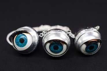 3 Eyes Necklace Miniblings 45cm Eye Puppet Moving Creepy Doll Eyes Halloween Doctor – Bild 4