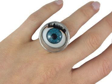 Eye Ring Miniblings Halloween Dolls Eyes Creepy Puppet Human Medicin Horror – Bild 2