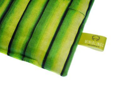 Kirschkernkissen BIO Wärmekissen Mikrowelle  Miniblings 22x18cm grün Bambus Baum Pflanze – Bild 2
