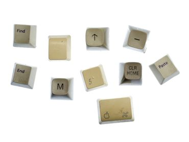 Set Of 10 Keys Numbers Upcyyling Miniblings Fridge Magnets Keyboard Computer  – Bild 1