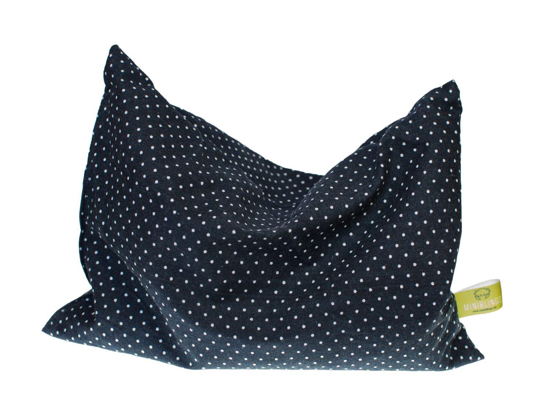 kirschkernkissen erk ltung miniblings 22x18cm schwarz punkte wei w rme kissen 123459269. Black Bedroom Furniture Sets. Home Design Ideas