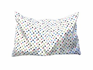 Cherry Pit Pillow Cushion Health Miniblings 22X18cm Colourfull Dots White Warm