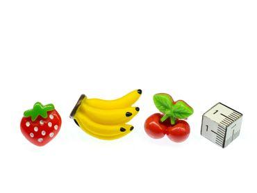 3er Set Obst Brosche Anstecknadel Bananenstaude Erdbeere Kirsche Essen Frucht – Bild 2