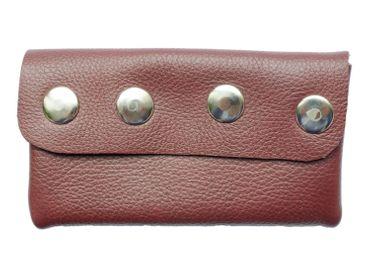 Leder Täschchen Miniblings Federmäppchen Mäppchen Tasche Handarbeit dunkelbraun – Bild 1