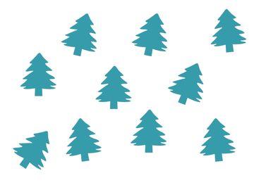 10x Tanne Bügelbild Bügelbilder Aufnäher Patch Miniblings FLOCK Weihnachtsbaum – Bild 11