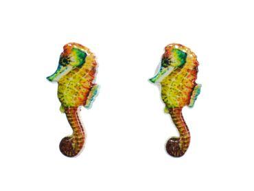 Seepferdchen Ohrstecker Miniblings Ohrringe Seepferd Meerestiere Aquarium bunt – Bild 1