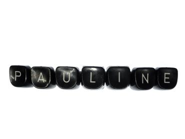 Pauline Hairslide Miniblings Hair Clip Name Typewriter Keys Keyboard Barrette – Bild 1