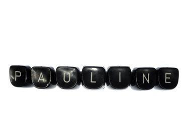 Pauline Haarspange Miniblings Schreibmaschinentasten Haarschmuck Name Buchstaben – Bild 1