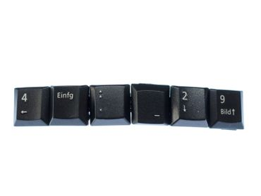 Keyboard Tastatur Haarspange Miniblings Haarschmuck Tasten Zeichen Pfeile – Bild 1