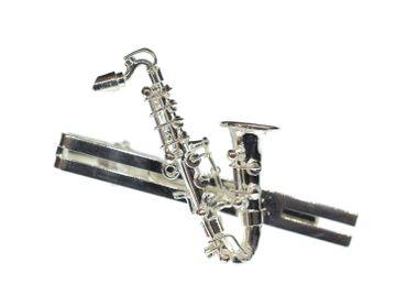 Saxofon Krawattennadel Krawattenhalter + Box Miniblings Sax Saxophon Musik silb – Bild 1
