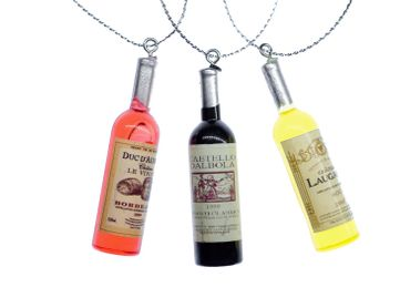 3 Pieces Christmas Tree Decorations Ornaments Ornament Xmas Wine Bottle Bottles Random Colours – Bild 1