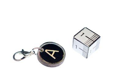 Buchstabe Wunschbuchstabe Charm Anhänger Miniblings A-Z Schreibmaschine Holz LC – Bild 3