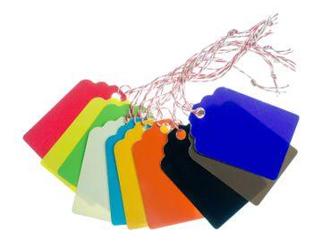10 Geschenkanhänger bunt Miniblings Geschenk Namensschild Etikett Rückseite weiß – Bild 3