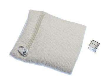 Schweißband mit Reißverschluss Geldbörse Miniblings blau Anker Hintergrund weiß – Bild 2