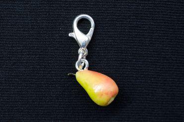 Pear Charm Miniblings For Bracelet Wristlet Dangle Charms Fruit Fruits Realistic – Bild 4