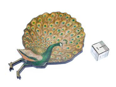 Peacock Brooch Miniblings Wood Laser Cut Peafowl LC 70mm Animal Animals Pin – Bild 2