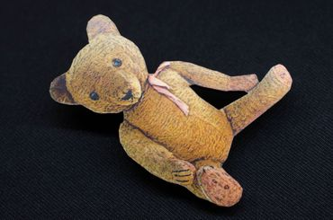 Teddy Bear Brooch Miniblings Wood Laser Cut 55mm Animal Animals Cuddly Toy LC – Bild 3