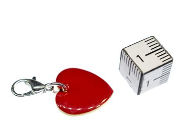 Herz Charm Bettelanhänger Miniblings Anhänger Herzchen Emaille 16mm Liebe rot – Bild 2