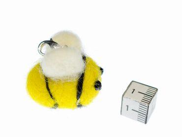 Bee Charm For Bracelet Wristlet Dangle Miniblings Felt Yellow Animal Honey Bee – Bild 2