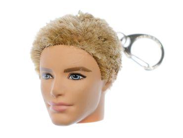 Head Key NecklaceMiniblings Rubber Body Parts Human Men Doll 43mm Keychain – Bild 1